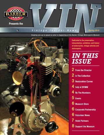 in this issue - Barber Vintage Motorsports Museum