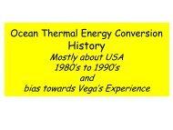 Ocean Thermal Energy Conversion History - Hawaii National Marine ...