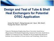 Kwon JT_ Tube&Shell HXs for OTEC