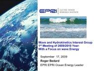 EPRI Wave Energy Tech Summary - Hawaii National Marine ...