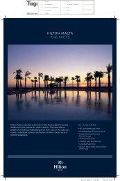 Hilton Malta Fact Sheet - Hilton Hotel in Malta