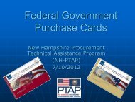 Doing Business with the Government Purchase Card