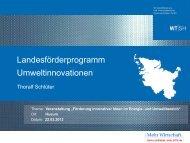 Innovationsförderung in SH - Furgy