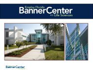 Banner Center – Presentation by Tod Fairbanks - Life Sciences ...