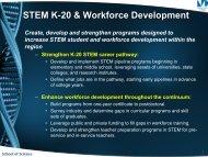 STEM Initiatives Inventory – Presentation by Heather Belmont