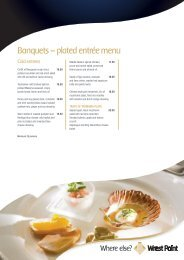 Banquets – plated entrée menu