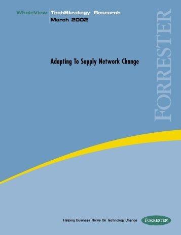 Adapting To Supply Network Change - FIPA