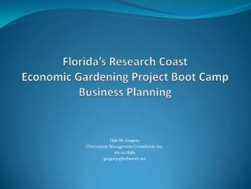 Strategic Planning - Florida Research Coast