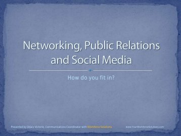 Public Relations, Networking, Social Media - Florida Research Coast