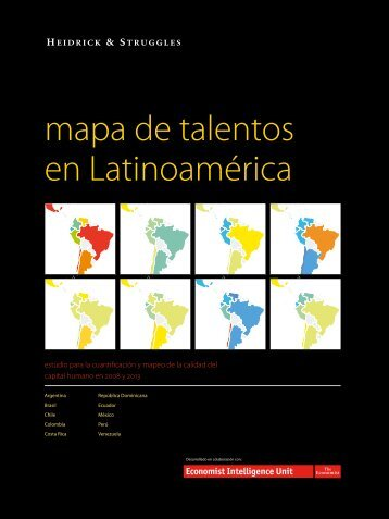 mapa de talentos en Latinoamérica - Global Talent Index