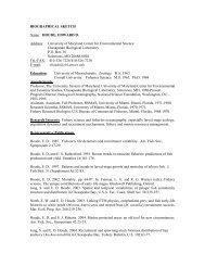 HOUDE, EDWARD D. Address - Institute for Ocean Conservation ...