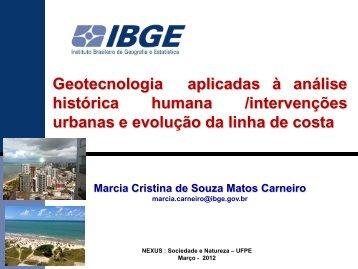 Geotecnologias Aplicadas à Análise Histórica da ... - Georeferencial