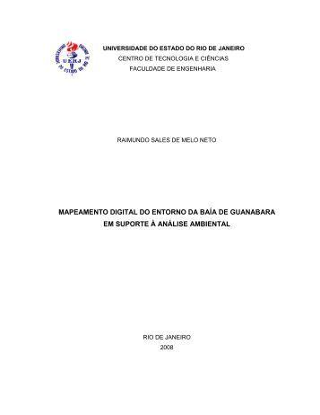 mapeamento digital do entorno da baía de ... - Georeferencial