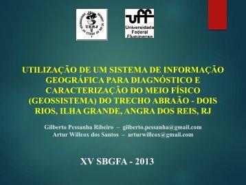 XV SBGFA - 2013 - Georeferencial