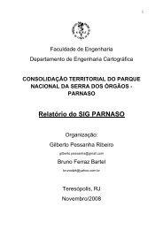 Relatório do SIG PARNASO - Georeferencial