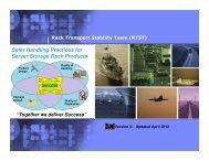 Safer Handling Practices for Server/Storage Rack Products