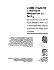 Update on Dynamic Compression Measurement and Testing