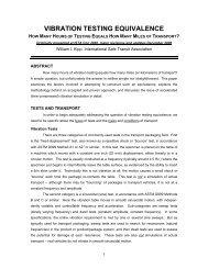 vibration testing equivalence - International Safe Transit Association