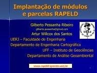 Implantação de módulos e parcelas RAPELD Ilha ... - Georeferencial