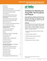 Guidelines for Selecting and Using ISTA® Test Procedures and ...