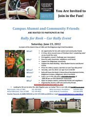 You Are Invited to Join in the Fun! Cam pus ... - Ridgetown Campus