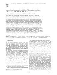 Seasonal and interannual variability of the surface circulation in the ...