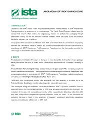 laboratory certification procedure - International Safe Transit ...