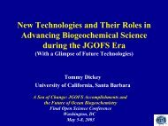New Technologies and Their Roles in Advancing Biogeochemical ...