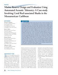 Marine Reserve Design and Evaluation Using Automated Acoustic ...