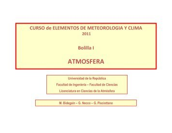 ATMOSFERA - Unidad de Ciencias de la Atmósfera
