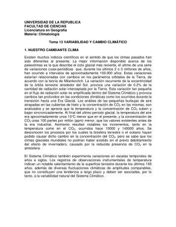 Tema 13 - Unidad de Ciencias de la Atmósfera