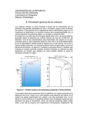 Tema 8 - Unidad de Ciencias de la Atmósfera