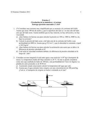 El Sistema Climático 2011 1 Práctico 2 Circulación de la atmósfera y ...