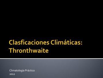 Clasificación de Thornthwaite