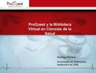 ProQuest y la Biblioteca Virtual en Ciencias de la Salud - Bibliotecas ...