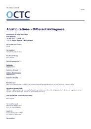 OCTC - Ablatio retinae - Differentialdiagnose, klinikinterne - OCTC.eu