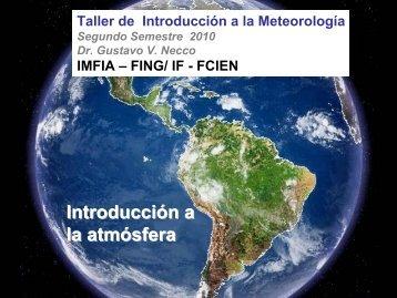Introducción a la atmósfera - Unidad de Ciencias de la Atmósfera