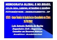 Hidrografia Global - Ciclos água, cabono, nitrogênio e ... - Outorga