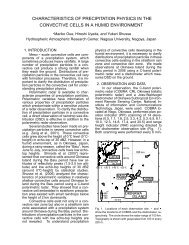 characteristics of precipitation physics in the convective cells in a ...