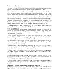Artigo 169 - Desmatamento da Amazônia - Outorga