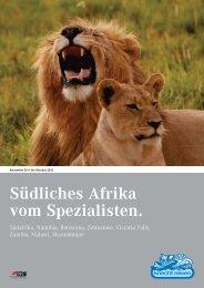 Südliches Afrika vom Spezialisten.