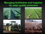Managing fertilization and irrigation for water quality protection