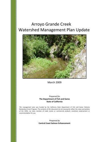 Arroyo Grande Creek Watershed Management Plan Update