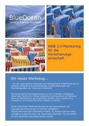 Flyer Social-Media-Monitoring Versicherungen - BlueOcean SBC
