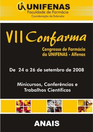 VII Congresso de Farmácia - Unifenas
