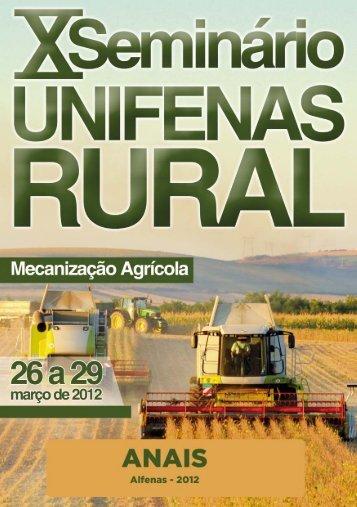 X Seminário Unifenas Rural