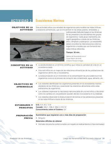 ACTIVIDAD 2 Ecosistemas Marinos - Around the Americas