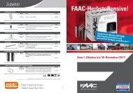 Vom 1. Oktober bis 30. November 2011! FAAC ... - FAAC GmbH