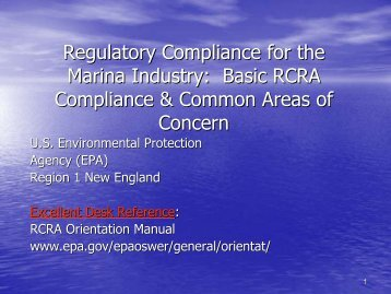 Regulatory Compliance for the Regulatory Compliance for the ...