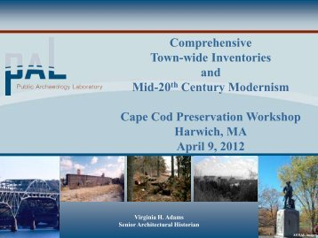 Comprehensive Town-wide Inventories and Mid-20th Century ...